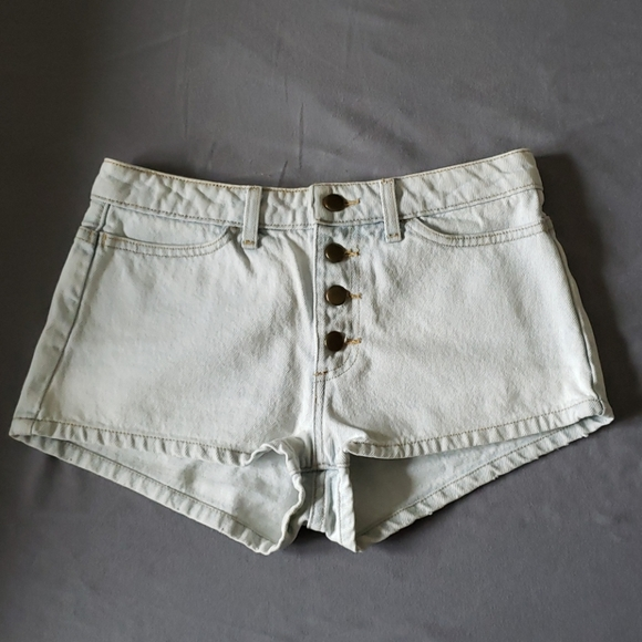 American Apparel Front Button Shorts